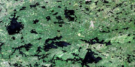 Sabourin Lake Satellite Map 052M07 at 1:50,000 scale - National Topographic System of Canada (NTS) - Orthophoto