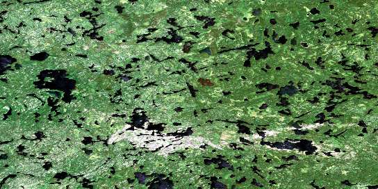 Bigshell Lake Satellite Map 052M08 at 1:50,000 scale - National Topographic System of Canada (NTS) - Orthophoto