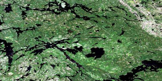 Old Shoes Lake Satellite Map 053D01 at 1:50,000 scale - National Topographic System of Canada (NTS) - Orthophoto
