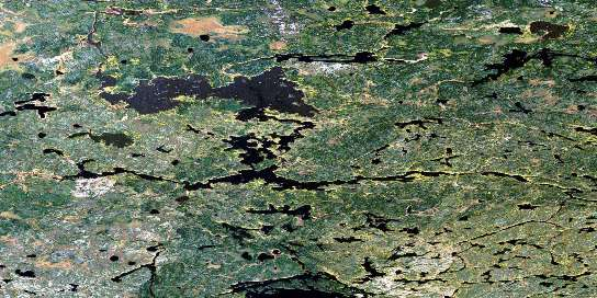 Acheetamo Lake Satellite Map 053D14 at 1:50,000 scale - National Topographic System of Canada (NTS) - Orthophoto