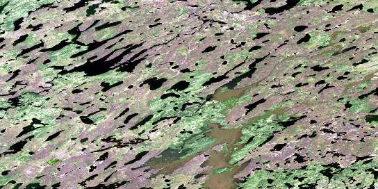 No Title Satellite Map 053J02 at 1:50,000 scale - National Topographic System of Canada (NTS) - Orthophoto