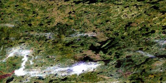 Withers Lake Satellite Map 053J05 at 1:50,000 scale - National Topographic System of Canada (NTS) - Orthophoto