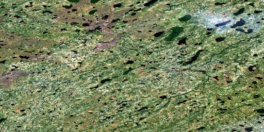 No Title Satellite Map 053J10 at 1:50,000 scale - National Topographic System of Canada (NTS) - Orthophoto
