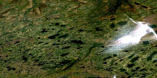 No Title Satellite Map 053J14 at 1:50,000 scale - National Topographic System of Canada (NTS) - Orthophoto