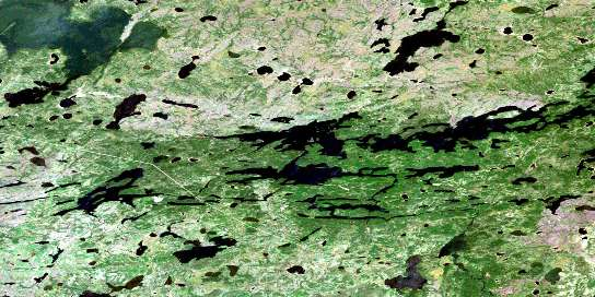Sharpe Lake Satellite Map 053K05 at 1:50,000 scale - National Topographic System of Canada (NTS) - Orthophoto