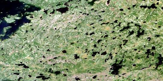 Pesanapisko Lake Satellite Map 053K12 at 1:50,000 scale - National Topographic System of Canada (NTS) - Orthophoto