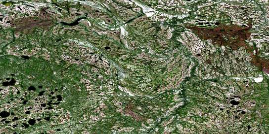 Mansemeigos Creek Satellite Map 054A04 at 1:50,000 scale - National Topographic System of Canada (NTS) - Orthophoto