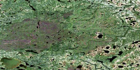 Spector Lake Satellite Map 054B01 at 1:50,000 scale - National Topographic System of Canada (NTS) - Orthophoto