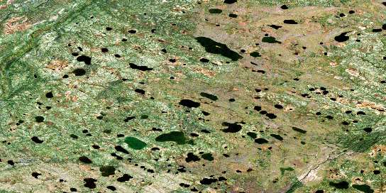 Burgess Lake Satellite Map 054B03 at 1:50,000 scale - National Topographic System of Canada (NTS) - Orthophoto