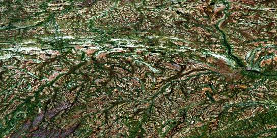 Adie Creek Satellite Map 054B05 at 1:50,000 scale - National Topographic System of Canada (NTS) - Orthophoto