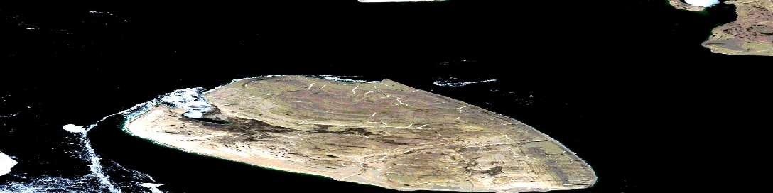 Air photo: Griffith Island Satellite Image map 058F12 at 1:50,000 Scale