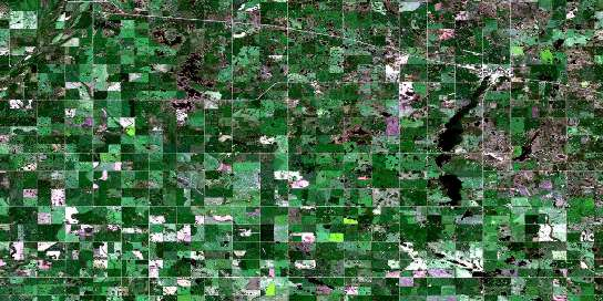 Shoal Lake Satellite Map 062K07 at 1:50,000 scale - National Topographic System of Canada (NTS) - Orthophoto