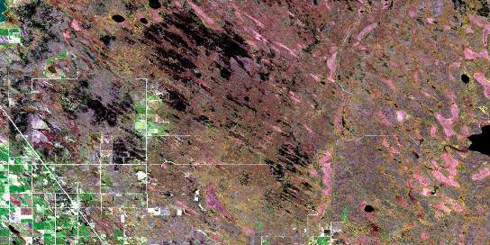 Moosehorn Satellite Map 062O08 at 1:50,000 scale - National Topographic System of Canada (NTS) - Orthophoto