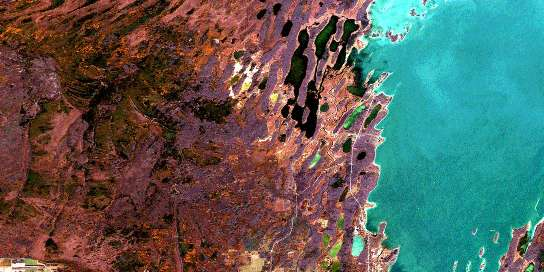 Duck Bay Satellite Map 063C01 at 1:50,000 scale - National Topographic System of Canada (NTS) - Orthophoto