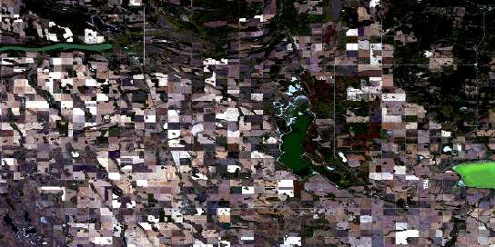 Nut Lake Satellite Map 063D05 at 1:50,000 scale - National Topographic System of Canada (NTS) - Orthophoto