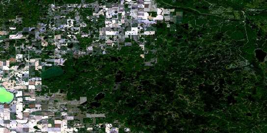 Klogei Lake Satellite Map 063D06 at 1:50,000 scale - National Topographic System of Canada (NTS) - Orthophoto