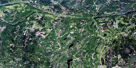 Reserve Satellite Map 063D07 at 1:50,000 scale - National Topographic System of Canada (NTS) - Orthophoto