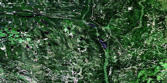 Mcbride Lake Satellite Map 063D08 at 1:50,000 scale - National Topographic System of Canada (NTS) - Orthophoto