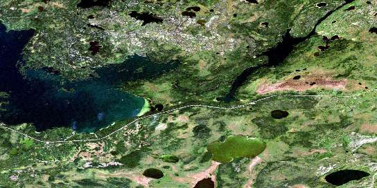 Tramping Lake Satellite Map 063K09 at 1:50,000 scale - National Topographic System of Canada (NTS) - Orthophoto