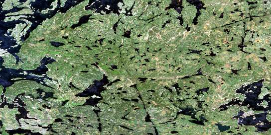 Bleasdell Lake Satellite Map 064D09 at 1:50,000 scale - National Topographic System of Canada (NTS) - Orthophoto