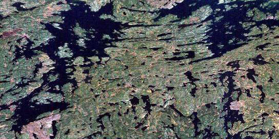 Oliver Lake Satellite Map 064D14 at 1:50,000 scale - National Topographic System of Canada (NTS) - Orthophoto