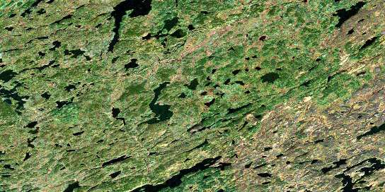 Rutherford Lake Satellite Map 064E06 at 1:50,000 scale - National Topographic System of Canada (NTS) - Orthophoto