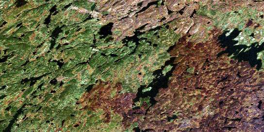 Reynolds Lake Satellite Map 064E15 at 1:50,000 scale - National Topographic System of Canada (NTS) - Orthophoto