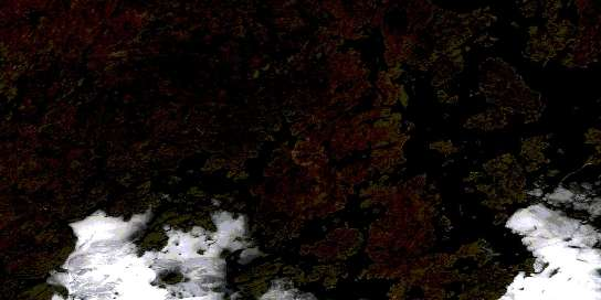 Feaviour Peninsula Satellite Map 064E16 at 1:50,000 scale - National Topographic System of Canada (NTS) - Orthophoto