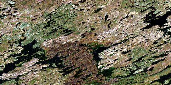 Bannock Lake Satellite Map 064L15 at 1:50,000 scale - National Topographic System of Canada (NTS) - Orthophoto
