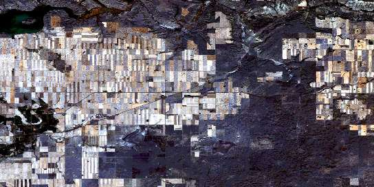Ravenscrag Satellite Map 072F06 at 1:50,000 scale - National Topographic System of Canada (NTS) - Orthophoto