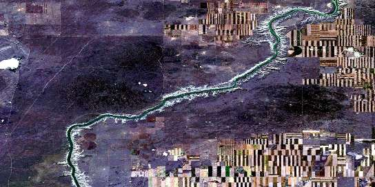 The Middle Sand Hills Satellite Map 072L09 at 1:50,000 scale - National Topographic System of Canada (NTS) - Orthophoto