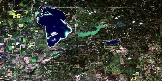 Frog Lake Satellite Map 073E16 at 1:50,000 scale - National Topographic System of Canada (NTS) - Orthophoto