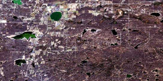 Reita Lake Satellite Map 073L01 at 1:50,000 scale - National Topographic System of Canada (NTS) - Orthophoto