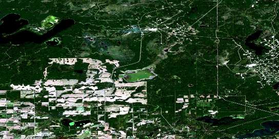 Marguerite Lake Satellite Map 073L10 at 1:50,000 scale - National Topographic System of Canada (NTS) - Orthophoto