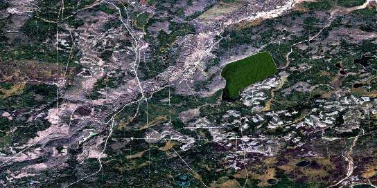 Bohn Lake Satellite Map 073M15 at 1:50,000 scale - National Topographic System of Canada (NTS) - Orthophoto