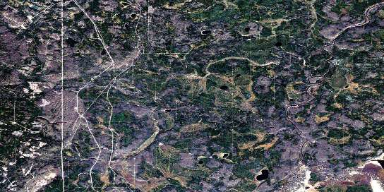 Quigley Satellite Map 074D02 at 1:50,000 scale - National Topographic System of Canada (NTS) - Orthophoto