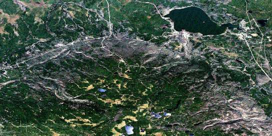 Gregoire Lake Satellite Map 074D06 at 1:50,000 scale - National Topographic System of Canada (NTS) - Orthophoto