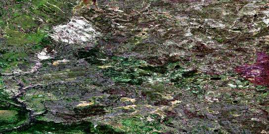 High Hill River Satellite Map 074D16 at 1:50,000 scale - National Topographic System of Canada (NTS) - Orthophoto