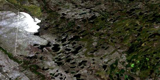 Larocque Lake Satellite Map 074L02 at 1:50,000 scale - National Topographic System of Canada (NTS) - Orthophoto