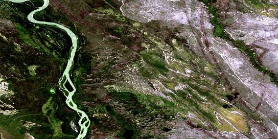 Embarras Satellite Map 074L03 at 1:50,000 scale - National Topographic System of Canada (NTS) - Orthophoto