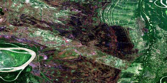 Peltier Creek Satellite Map 074M04 at 1:50,000 scale - National Topographic System of Canada (NTS) - Orthophoto