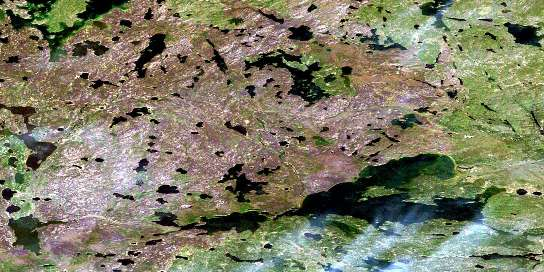 Colin Lake Satellite Map 074M09 at 1:50,000 scale - National Topographic System of Canada (NTS) - Orthophoto