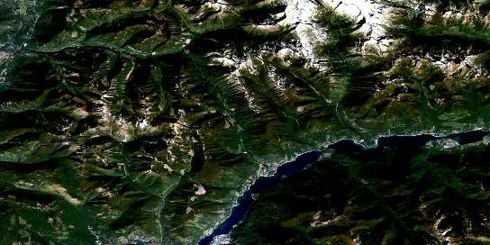Air photo: Kokanee Peak Satellite Image map 082F11 at 1:50,000 Scale
