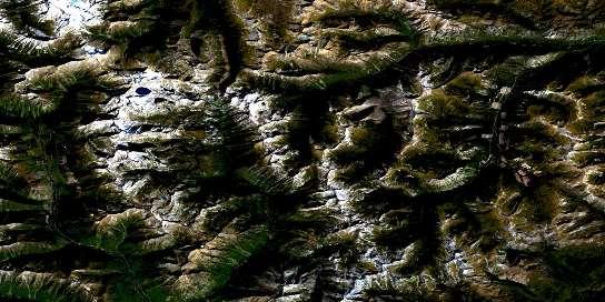 Air photo: Dewar Creek Satellite Image map 082F16 at 1:50,000 Scale