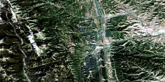 Langford Creek Satellite Map 082J01 at 1:50,000 scale - National Topographic System of Canada (NTS) - Orthophoto