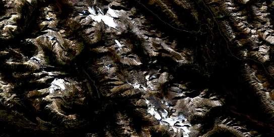 Kananaskis Lakes Satellite Map 082J11 at 1:50,000 scale - National Topographic System of Canada (NTS) - Orthophoto