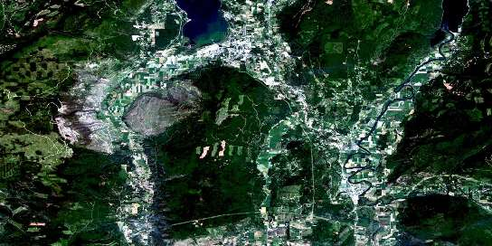 Salmon Arm Satellite Map 082L11 at 1:50,000 scale - National Topographic System of Canada (NTS) - Orthophoto