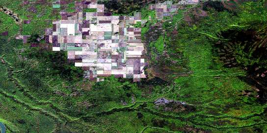 Steephill Creek Satellite Map 084F15 at 1:50,000 scale - National Topographic System of Canada (NTS) - Orthophoto