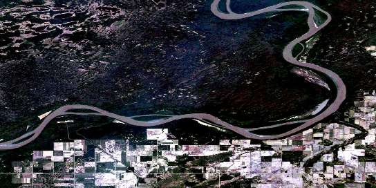 Moose Island Satellite Map 084K02 at 1:50,000 scale - National Topographic System of Canada (NTS) - Orthophoto