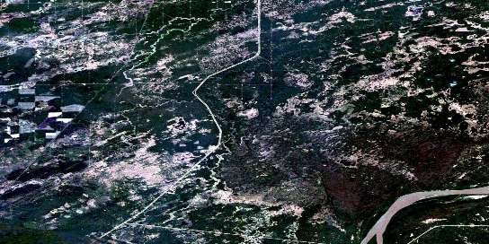 Metis Satellite Map 084K03 at 1:50,000 scale - National Topographic System of Canada (NTS) - Orthophoto